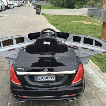 Электромобиль Mercedes Benz S600 (усиленный аккумулятор, резина, кожа, пульт, музыка, ГЛЯНЦЕВАЯ ПОКРАСКА)