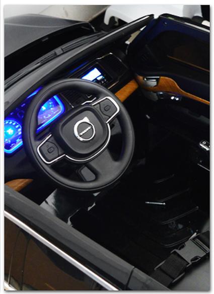 Электромобиль VOLVO XC90 красный (усиленный аккумулятор, резина, кожа, пульт, музыка, ГЛЯНЦЕВАЯ ПОКРАСКА)
