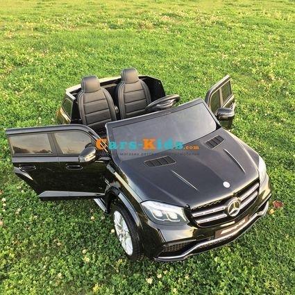 Электромобиль Mercedes-Benz GLS 63 AMG 4WD черный (2х местный, колеса резина, сиденье кожа, пульт, музыка)