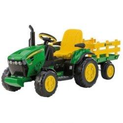 Электромобиль- трактор Peg-Perego John Deere Ground Force (скорость до 7,3 км/ч, тележка)
